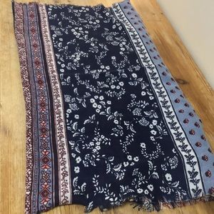 FREE with purchase - Pretty blue and pink scarf